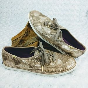 Keds Gold Sequin Champion Fashion Sneakers